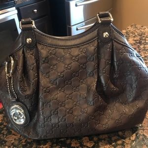 Authentic Guccissima Brown Leather Hobo Bag